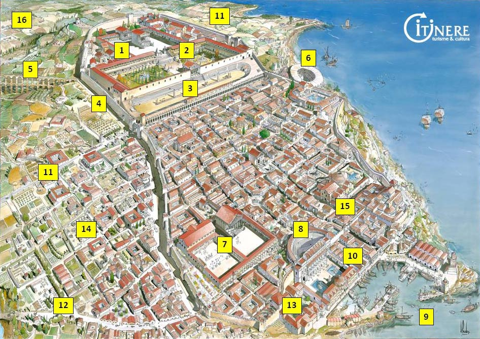 mapa tarraco romana itinere