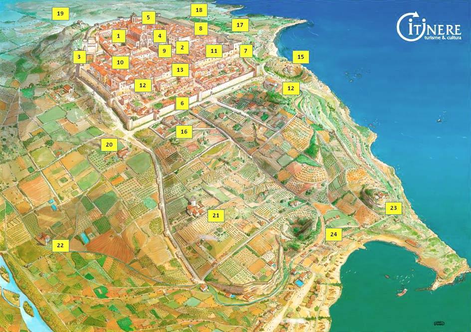 mapa tarragona medieval itinere
